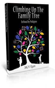 climbing up the family tree - book cover design